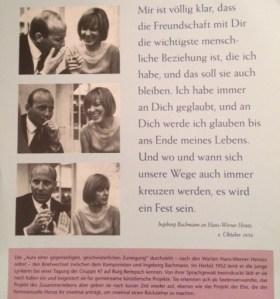 Freundschaft Bachmann Henze